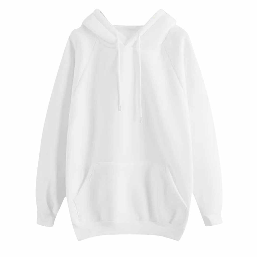 Vrouwen Casual Sweater Effen Kleur Hooded Pocket Lange Mouw Sweatshirt Vrouwelijke Trainingspak Sportkleding Hoodies Hoody