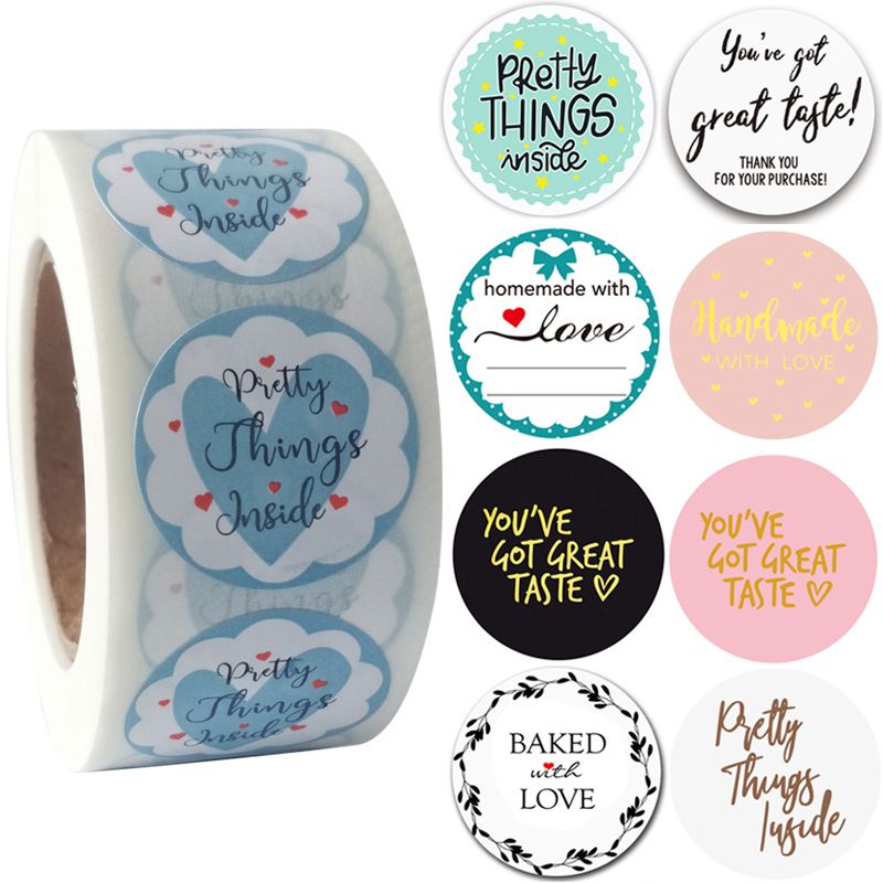 You've Got Great Taste Stickers Pink Pretty Things Inside Homemade Bakery Seal Labels Gold Foil Wedding Party Favors Gift Decor