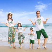 family matching clothes mother and daughter summer dress outfits mom and son matching clothes brother sister matching Father недорого