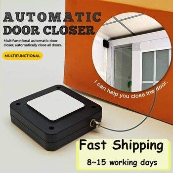 Door Closer Punch-Free Automatic Door Closers For Drawers Rawstring Door Closer Bracket Door Automatic Closer 1