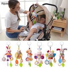 Newborn Baby Plush Stroller Toys Baby Rattles Mobiles Cartoon Animal Hanging Bell Educational Baby Toys 0-12 Months