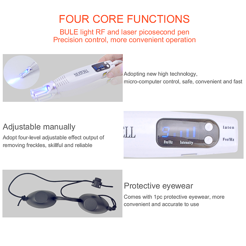 Image 5 - Licheng Portable Blue Light Laser Picosecond Pen Black Tattoo Removal Acne Scar Mole Freckle Dark Spot Black Pigment Removal-in Face Skin Care Tools from Beauty & Health
