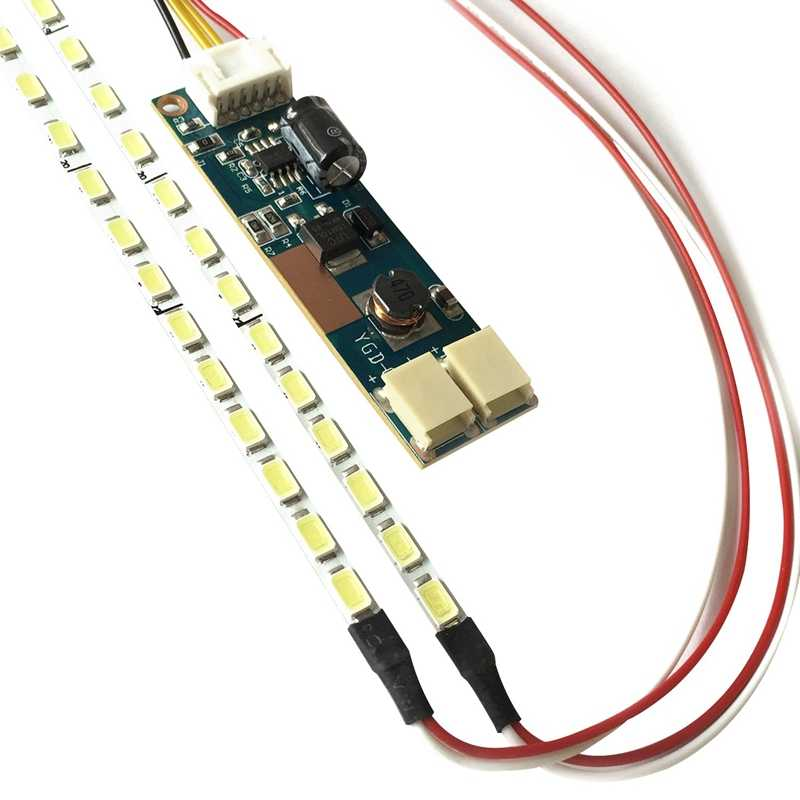 Универсальный Высокий светильник с регулируемой яркостью светодиодный светильник с подсветкой обновленный комплект регулируемый светодиодный светильник для ЖК-монитора 2 светодиодный полосы