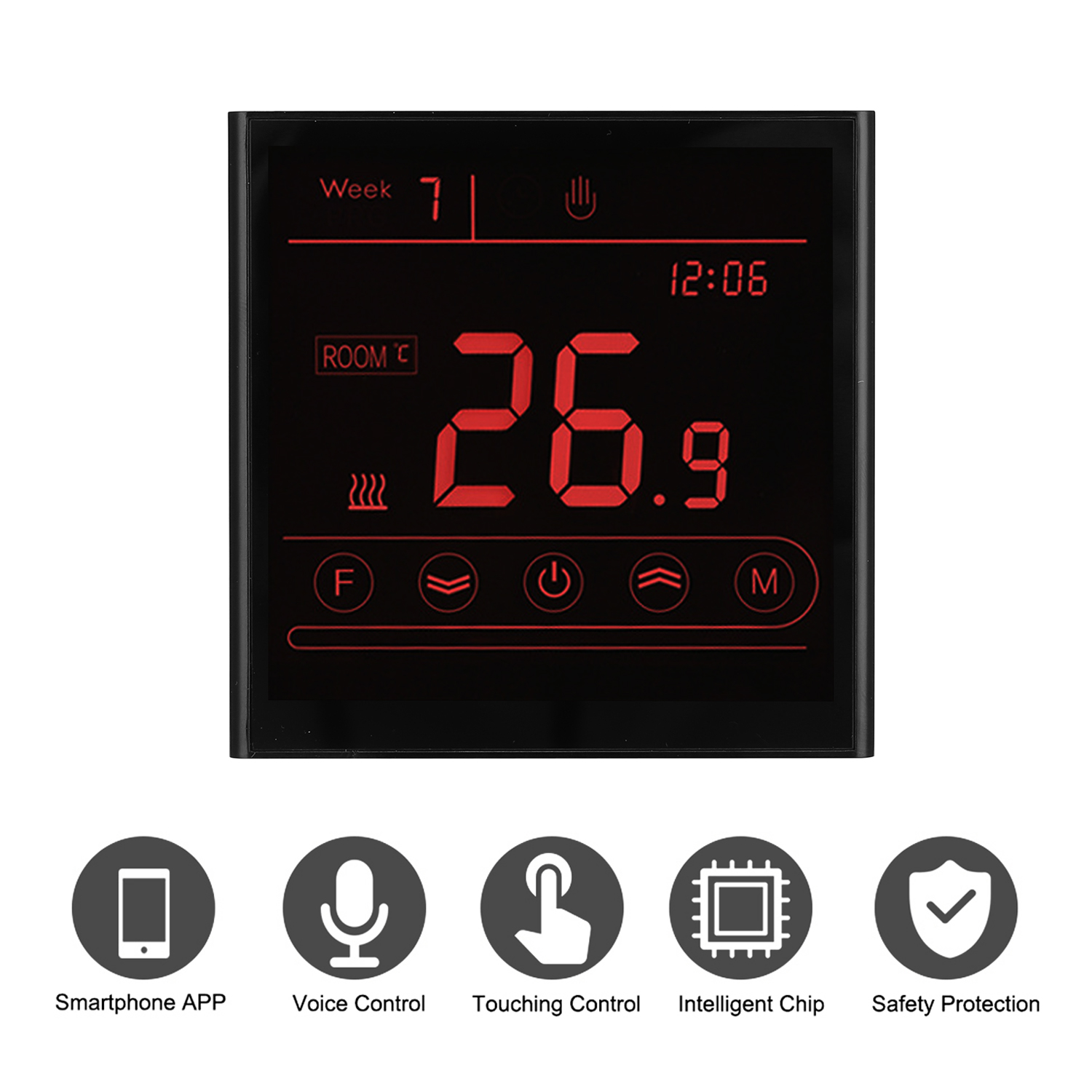 Water Heating WIFI Thermostat APP Remote Control Termostato LCD Touching Screen Temperature Control For Alexa Google Home