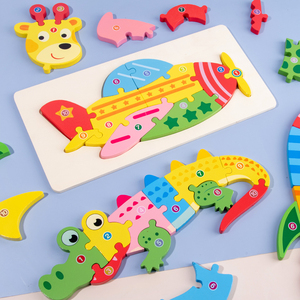 Baby Digital Puzzles Toy Woode