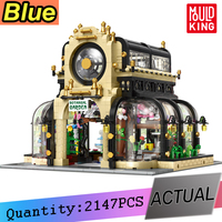 16019 MOC Creator Expert Botanical Garden Bricks with Led Light City Street Series Model Version View Building Blocks Kids Toys