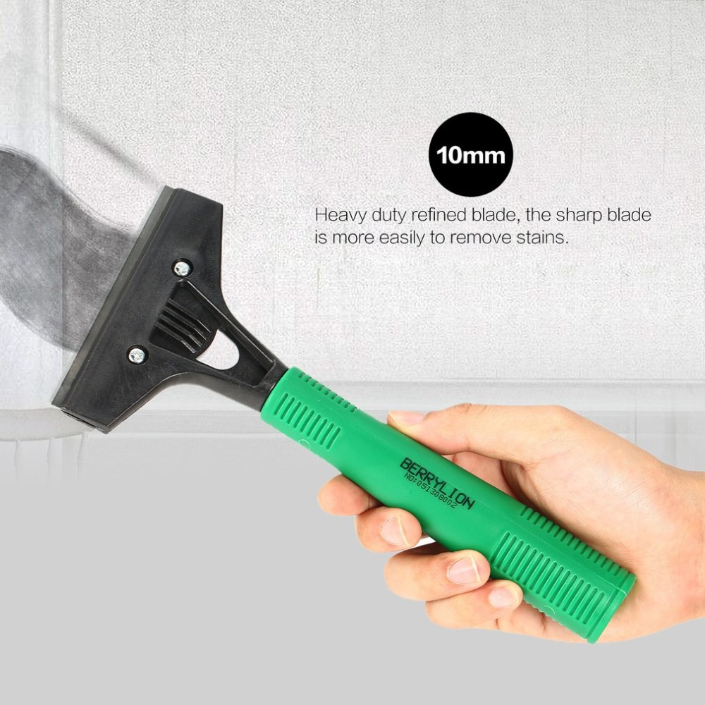BERRYLION Razor Scraper Blade Window Ceramic Glass Oven Mini Cleaner Cleaning Tool Tile Adhesive Sticker Removal Multi-purpose
