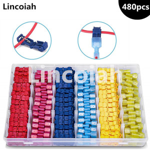 T-Tap Wire Connectors Self-Stripping Quick Splice Electrical Wire Terminals Insulated Male Disconnect Spade Lock Cable Crimp