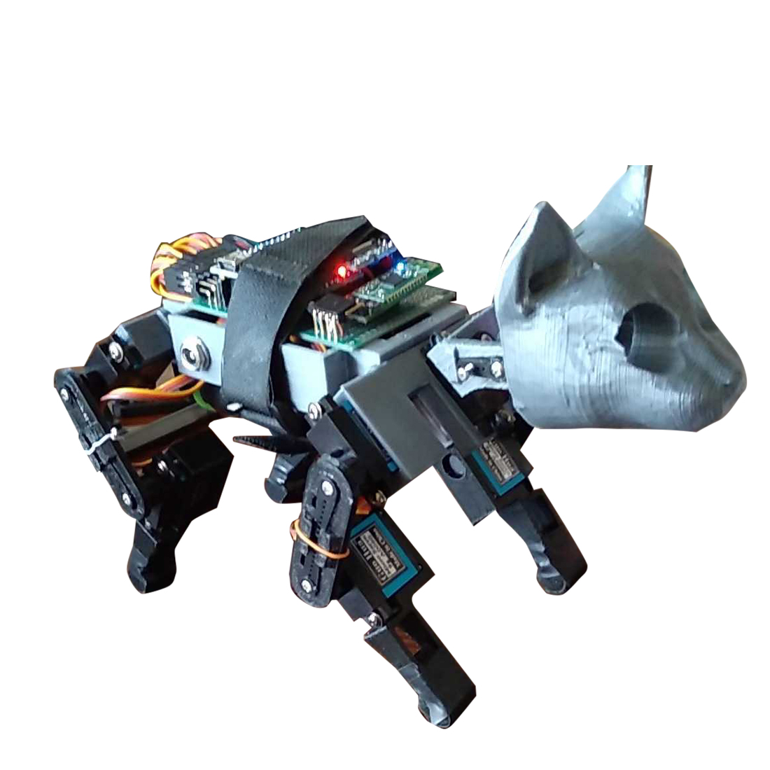 Programmable Mechanical Dog 11DOF Bionic Quadruped Crawling Robot Toy