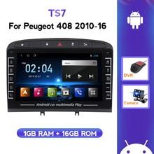 Radio Multimedia con GPS para coche, Radio con reproductor de vídeo, 2 Din, Android, 2 Din, pantalla táctil, 408 para Peugeot 308 308S 2012 - 2020