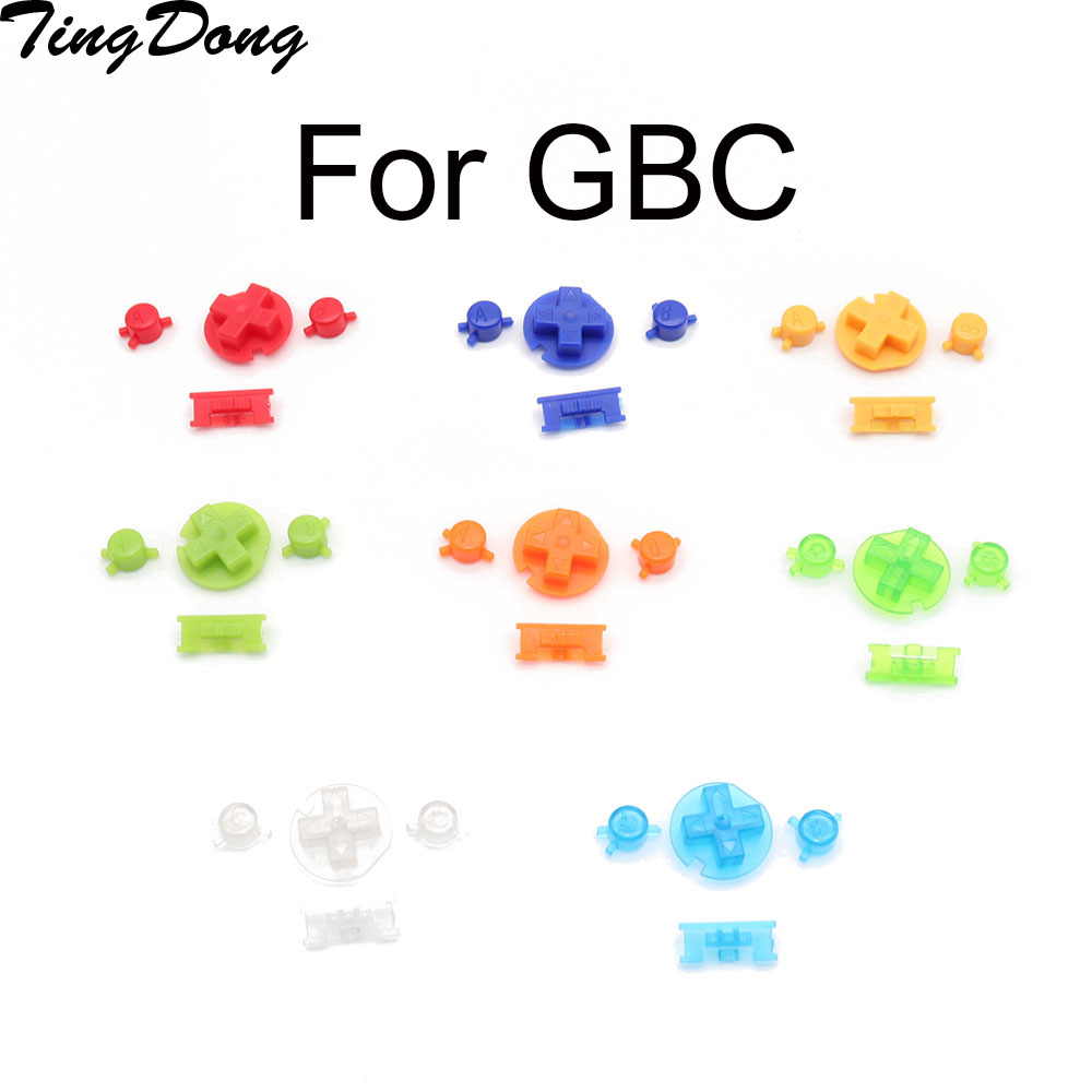 1 set x Colorful buttons set replacement for <font><b>Gameboy</b></font> <font><b>Color</b></font> for GBC <font><b>Game</b></font> Console ON OFF Button AB Buttons D Pads replacement image
