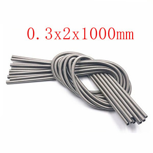 1pc/lot wire 0.2mm 0.3x2x1000mm 1 meter Stainless Steel Tension Spring Extension Spring Out Dia 2mm