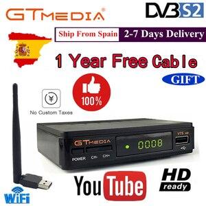 Image 1 - Dmyco receptor de satélite tv sintonizador decodificador v7shd DVB S2 lnb com europa portugal espanha canais conta suporte powervu receptor