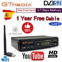 Récepteur Satellite DMYCO décodeur TV décodeur V7SHD DVB-S2 LNB avec Europe Portugal espagne chaînes prise en charge du compte récepteur Powervu