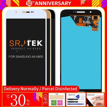 Super AMOLED Screen Compatible For Samsung A8 2015 A8000 A800 A800F LCD Display Touch Screen Digitizer Assembly free shipping