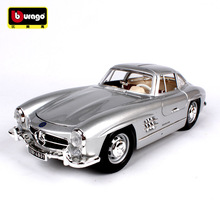 Bburago 1:18 1954 Mercedes 300SL  car alloy model simulation decoration collection gift toy Die casting boy