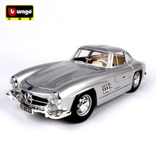 Bburago 1:18 1954 Mercedes 300SL car alloy car model simulation car decoration collection gift toy Die casting model boy toy(China)