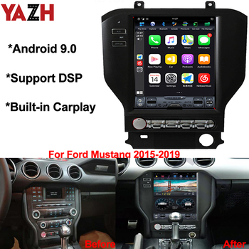 """YAZH 10.4"""" IPS Auto Radio Player For Ford Mustang 2015 2016 2017 2018 2019 With Android 9.0 GPS Bluetooth 5.0 RAM 4GB DSP SWC"""