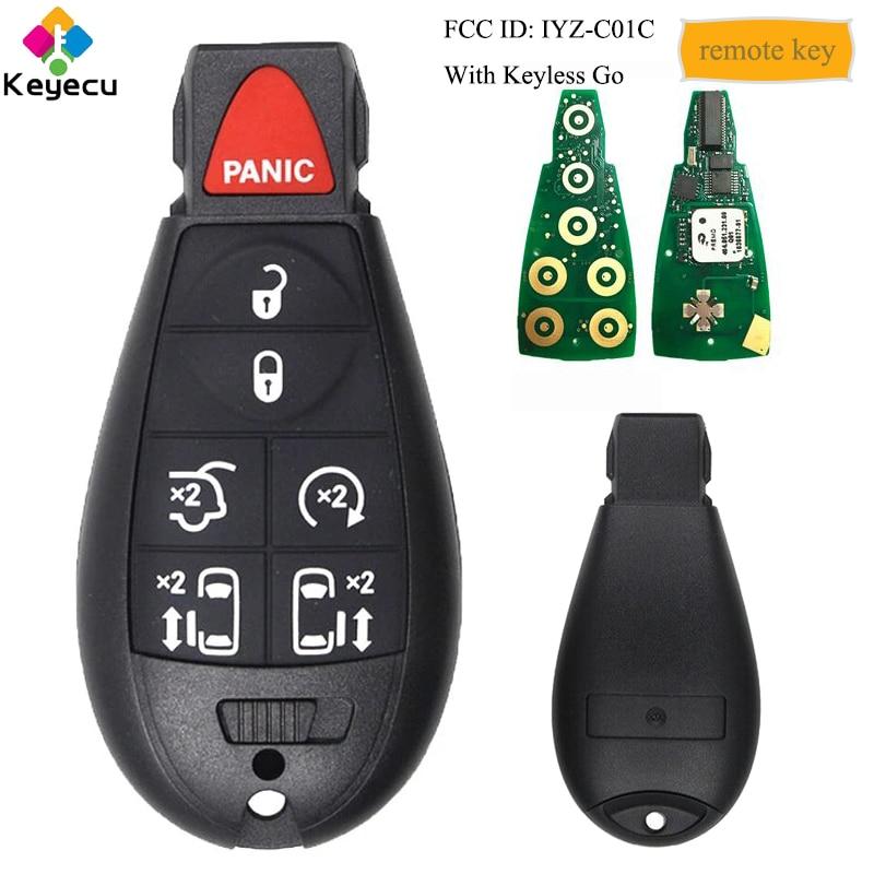 KEYECU умный пульт дистанционного управления автомобильный ключ с 7 кнопками 433 МГц для Chrysler Town & Country 2008 - 2016, 05026590 IYZ-C01C