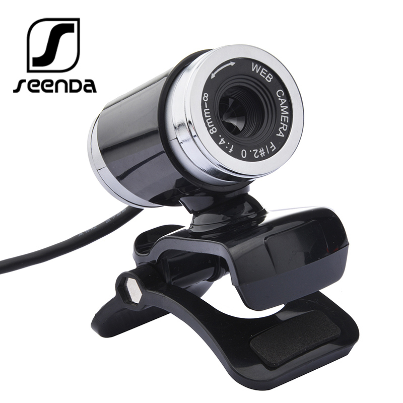 SeenDa 640P Webcam Wide Compatibility Computer Laptop Webcams Camera With Noise Reduction Microphone