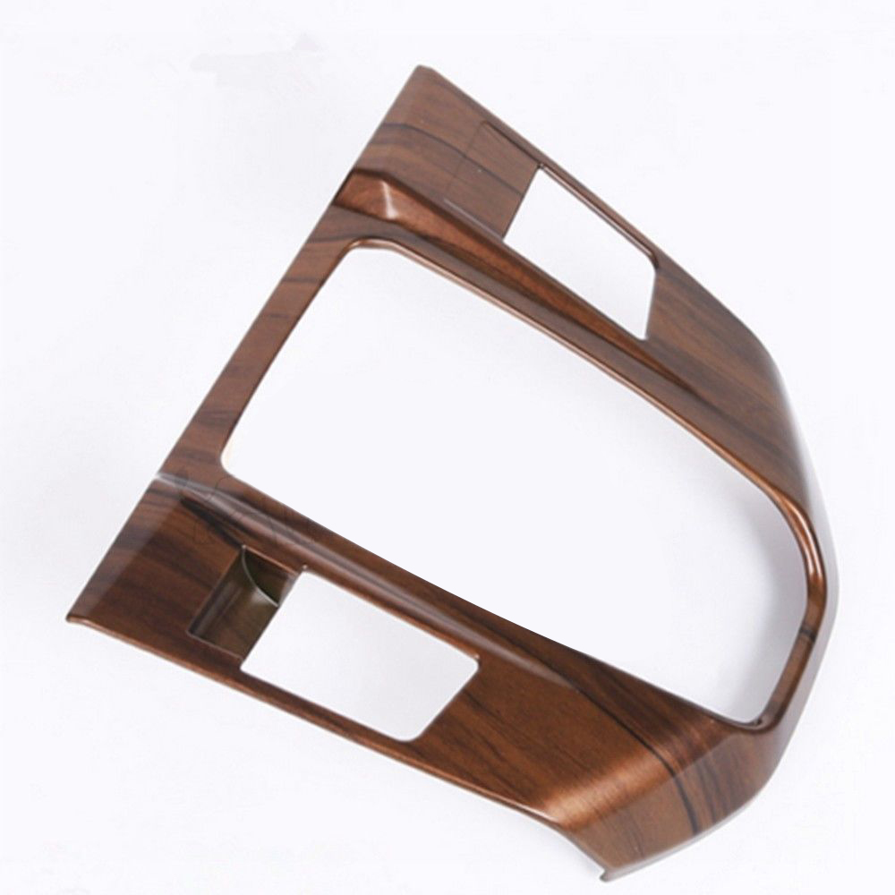 Panel Cover Trim Frame Convenient Shift Panel Cover Accessories Four Seasons Wood ABS Retro for for <font><b>Honda</b></font> image