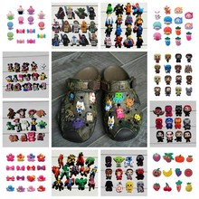 10-12pcs/lot Avengers Sesame Street Super Mario Star Wars PVC Shoe Charms Shoes Accessories Fit Brac