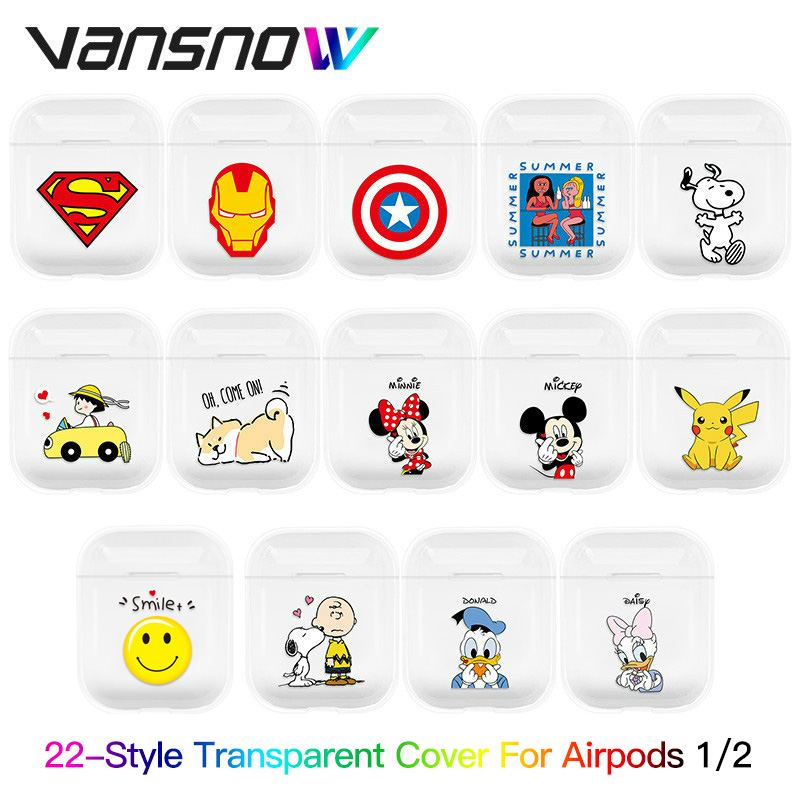 For Airpods Case Transparent Earphone Case Accessories For Airpods Charging Box Case For Airpods Case For Airpods Accessories
