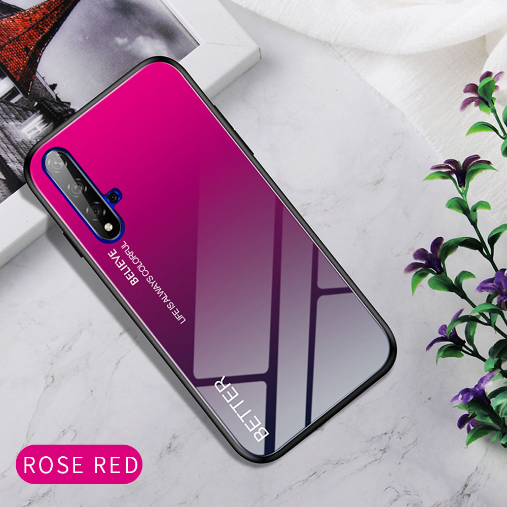 H66ffb1e5f493401f8ff04d6a106468d7p Phone Case for Huawei Honor 20s 20 Case Marble Tempered Glass Soft Tpu Frame Back Case for Huawei Honor 20s Honor 20 Pro Case