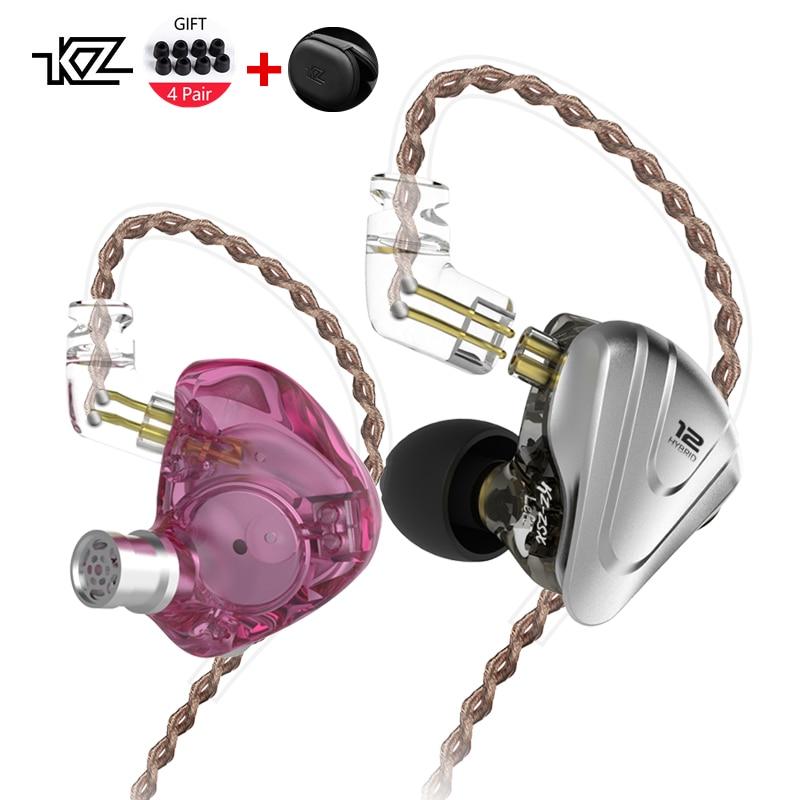 KZ ZSX Terminator bass Headphone 5BA+1DD 12 Unit Drivers Hybrid In-ear HIFI Metal Headset Music Sport DJ Earphone