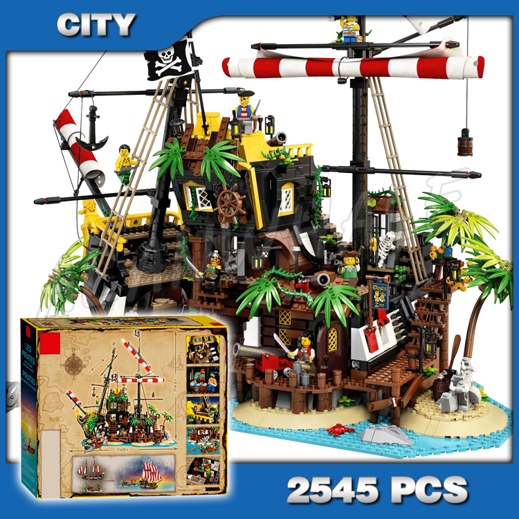 2545pcs Pirates Of Barracuda Bay Castle Series Pirates Robbery Barracks Model Building Blocks Sets DIY Toys Compatible With Lago