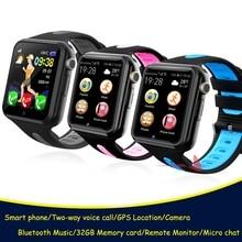 Детские Смарт часы с GPS для мальчиков и девочек Apple Android Смарт часы с поддержкой 2G SIM TF карты MTK2503 циферблат вызов Push сообщения V5K