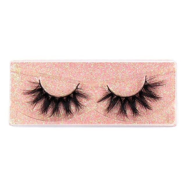FOXESJI Makeup Eyelashes 3D Mink Lashes Fluffy Soft Wispy Volume Natural long Cross False Eyelashes Eye Lashes Reusable Eyelash 3