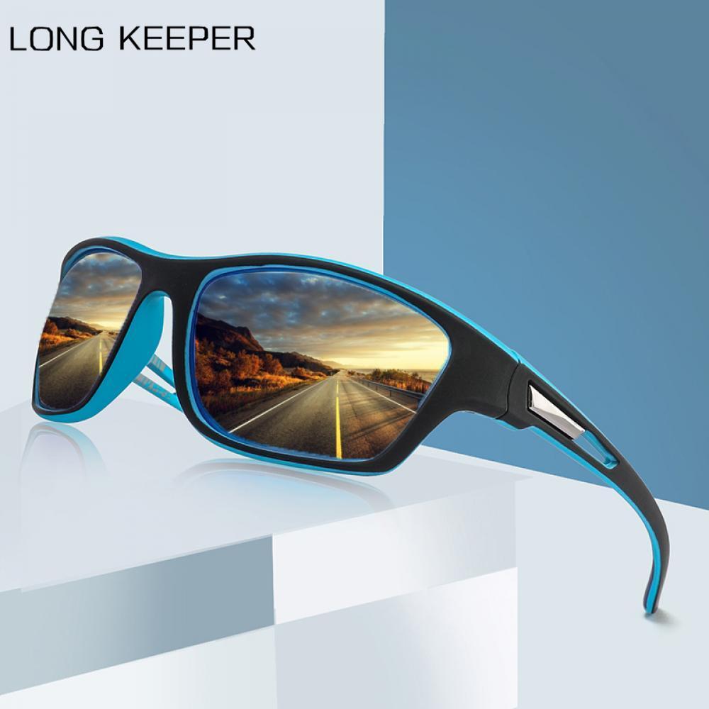 Мужские поляризованные солнцезащитные очки LongKeeper 2020, брендовые антибликовые солнцезащитные очки для вождения автомобиля, мужские черные с...