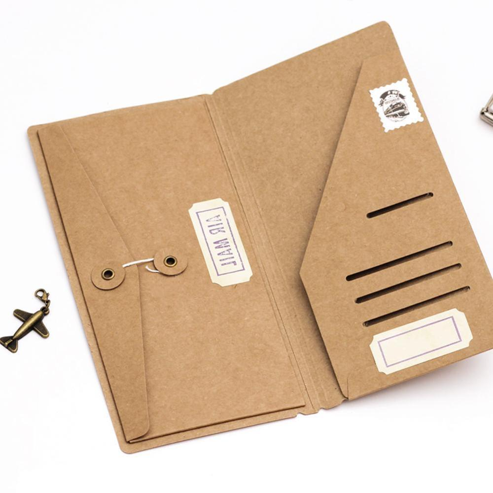 Kraft Paper Envelope Tickets Receipt Card Bag File Folder Notebook Inside Sheet Inner And Outer Business Card Bill Holder
