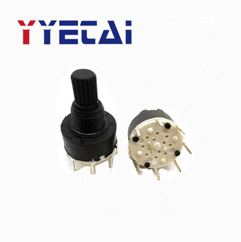 YongYeTai All plastic 16MM rotary switch 15 flower shaft SR16 free shipping image