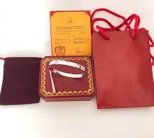 Marca de luxo chave de fenda parafuso pulseiras & pulseiras para mulheres masculino casal jóias amor bangles ouro com caixa