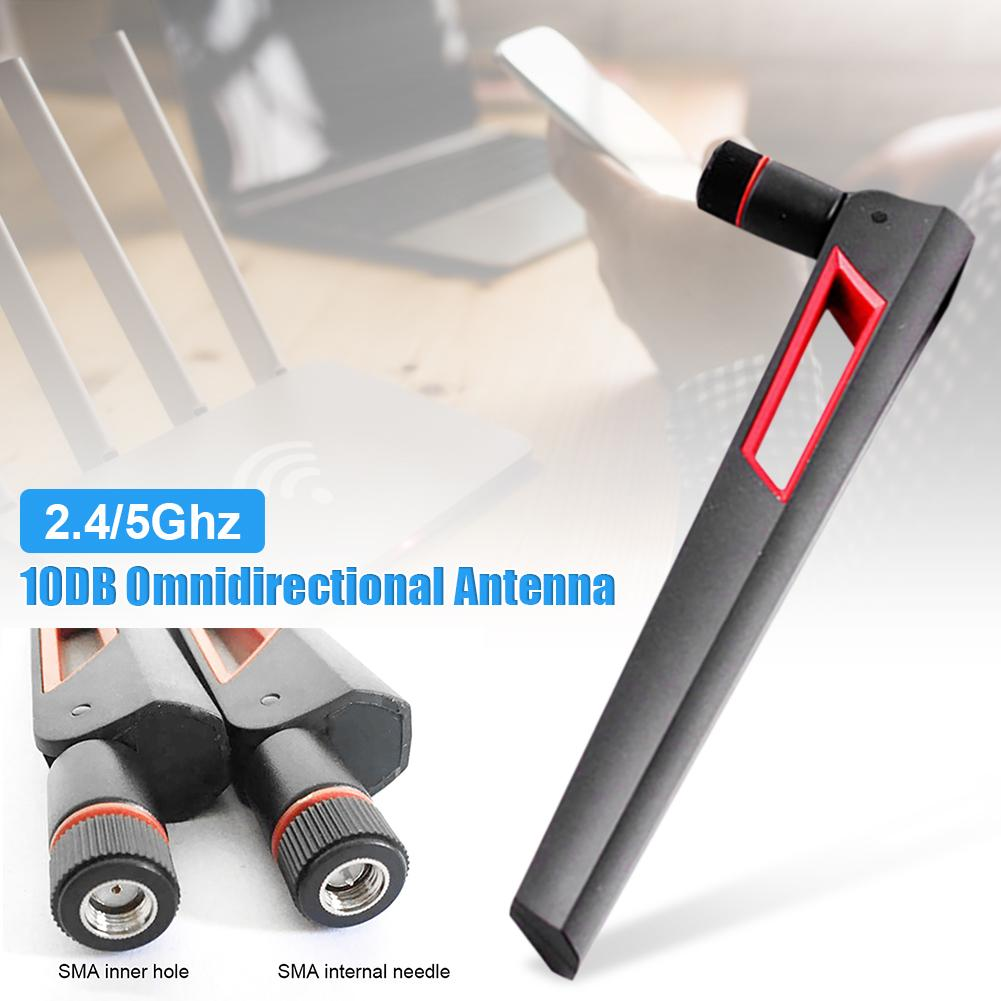 2.4G / 5G 10DB Dual Frequency Antenna Omnidirectional Wifi Antenna SMA Male (pin)/ RP-SMA Male(hole)