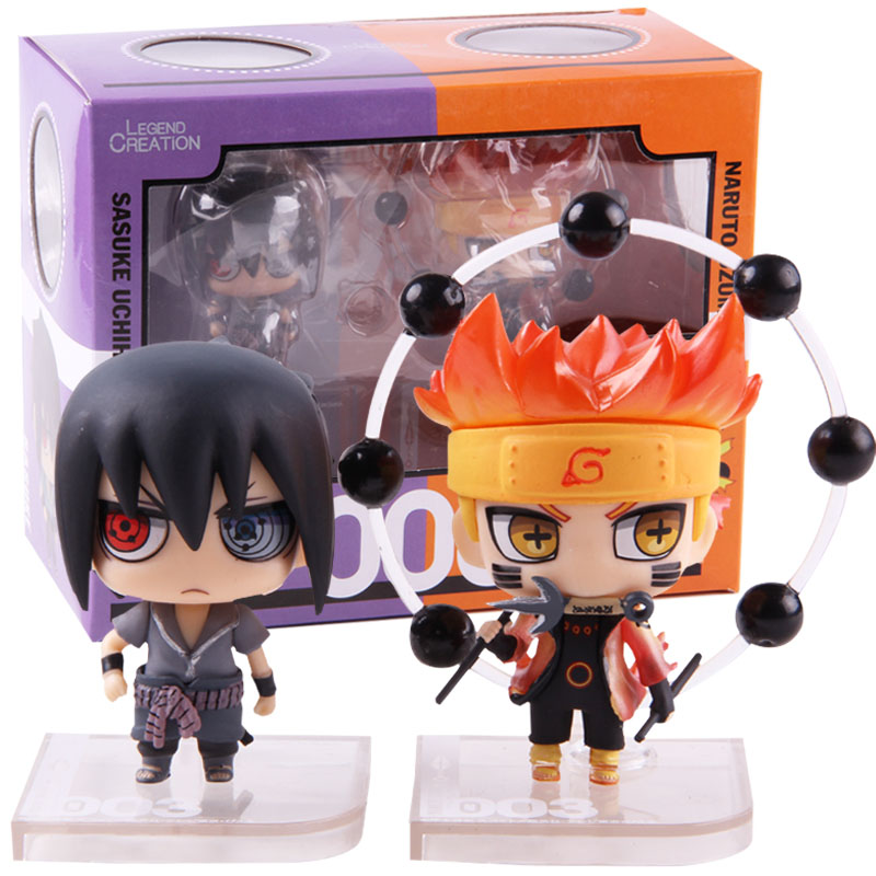 NARUTO Shippuden Naruto Uzumaki & Sasuke Uchiha Figure PVC Action Figures Collectible Model Toys 2pcs/set