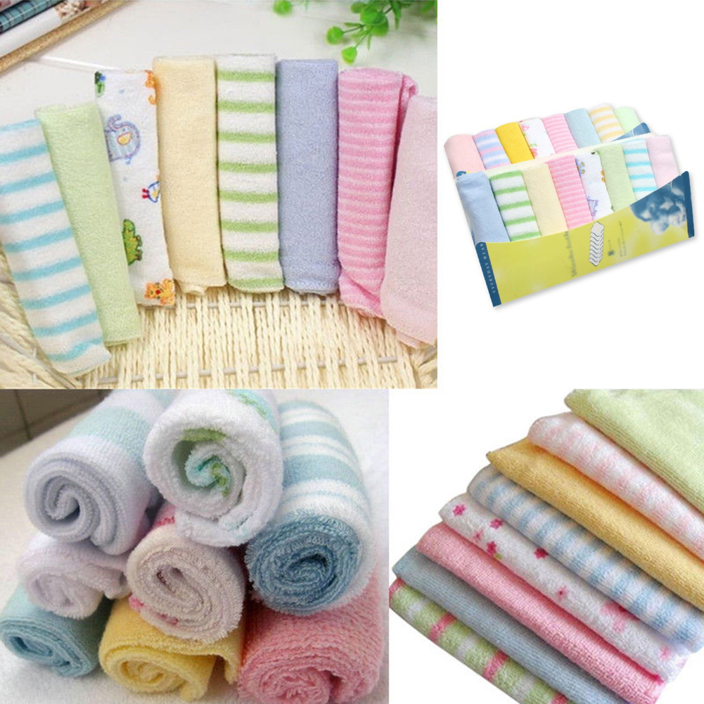 8pcs Set Nursing Towels Baby Towels Baby Bibs Handkerchief Towel Washcloth