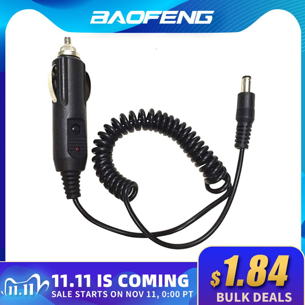 Car Lighter Slot Charger Cable For Baofeng UV-5R UV-5RE 5RA Walkie Talkie Charge Base 12V DC Power C