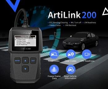 TOPDON ArtiLink OBD2 Auto Diagnostic Tool Scanner Universal OBD Car Diagnostic Tool ODB2 Check Engine Automotive Car Code Reader цена 2017
