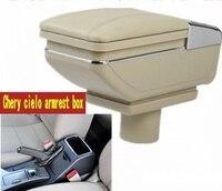 Für Chery Cielo A3 M11 armlehne box zentralen Speicher inhalt box mit tasse halter aschenbecher USB Cielo A3 M11 armlehnen box