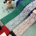 Растягивающаяся основа Вязание красочные кружева, аксессуары для одежды, DIY рукоделие, модель C1103
