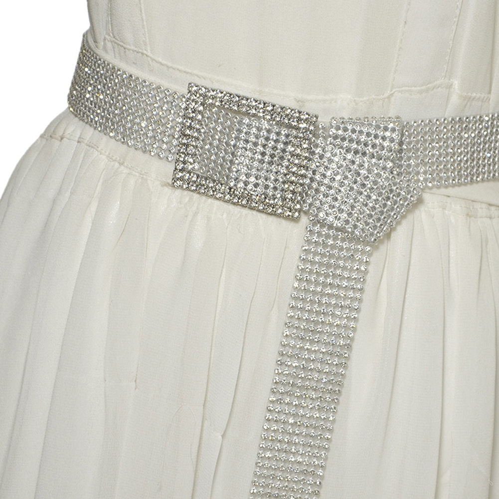 H67014a25d2034efb841b9d6db1c19655A Crystal Diamond Alloy Waistband Full Rhinestone Luxury Wide Party Belt
