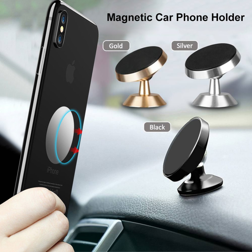 New Arrival 360°Rotating Car Air Vent Stand Holder Mount Kit Sticky Aluminum Alloy Magnet Mini Phone Holder Power #SYS #YL5 GPS