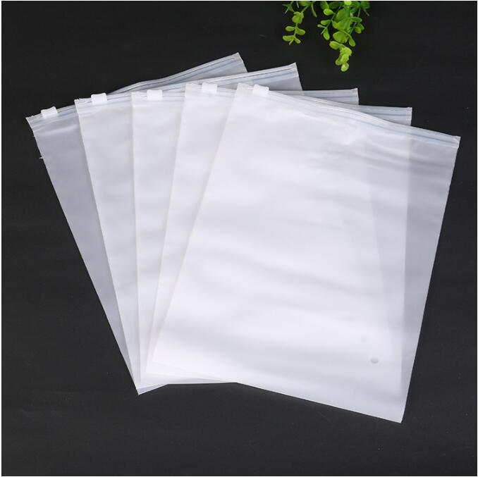 50pcs Clear Portable Plastic Package Cloth Travel Storage Pouch Matte Waterproof Bag Zip Organizer Bags