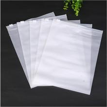 50pcs Clear Portable Plastic Package Cloth Travel Storage Pouch Matte Waterproof Bag Zip Cloth Organizer Storage Bags