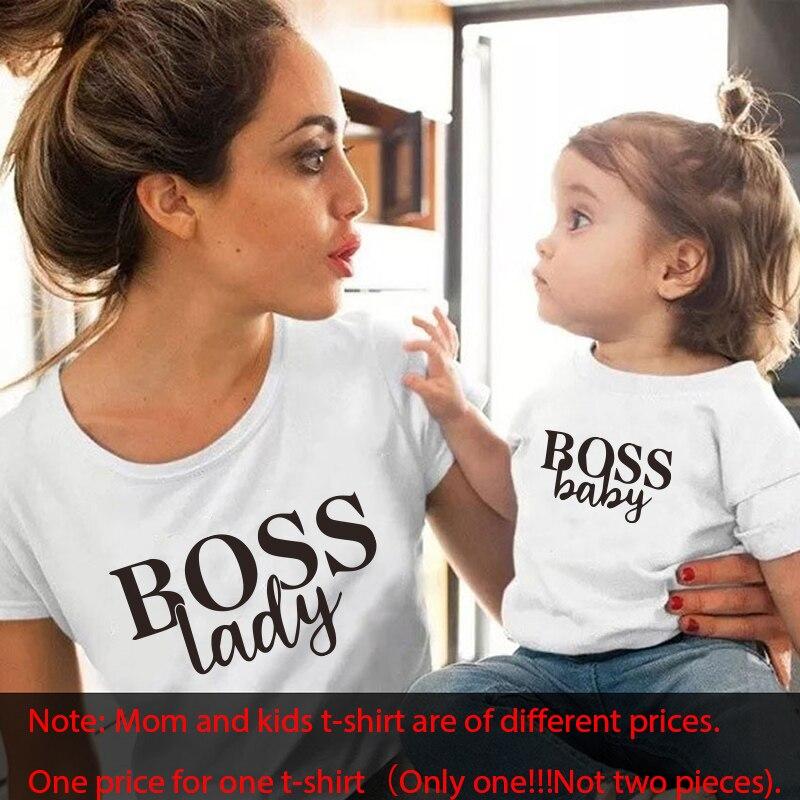 Gourd Doll/Семейные комплекты футболка женская футболка для сына и дочки топы для детей; Повседневная футболка для маленьких девочек и мальчиков - Цвет: white black