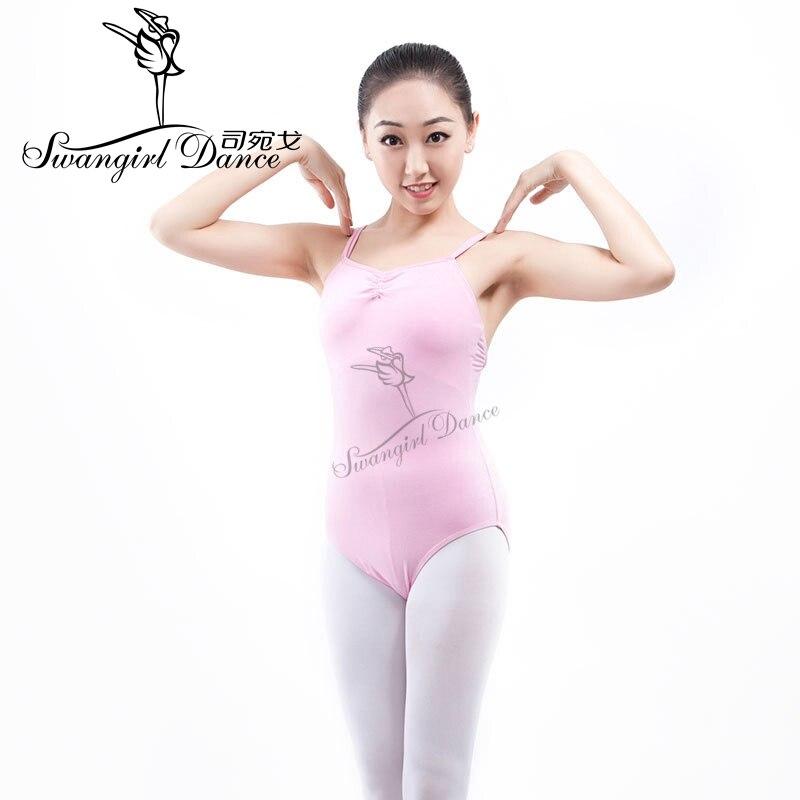 Ladies ballet dance wear dot net camisoles leotard