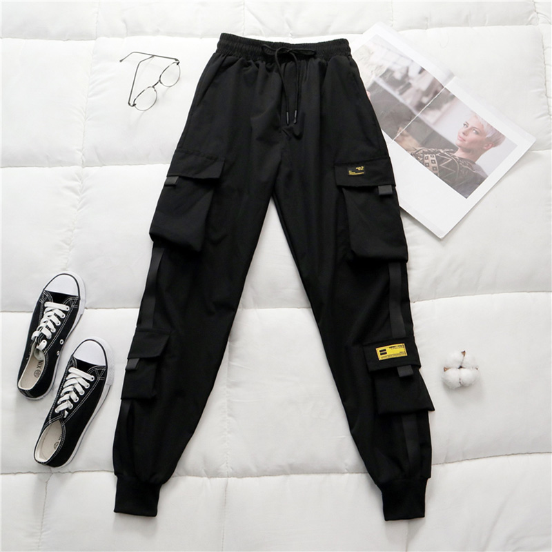 Spring Women's High Waist Cargo Pants 2020 Winter FUR Sports Loose Pants Harajuku BF Velvet Cargo Pants Elastics Trousers